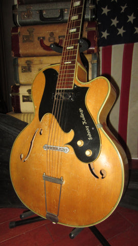 1963 Harmony H-65 Johnny Kadingo Acoustic Archtop Hollowbody Natural
