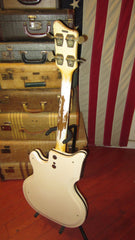 Vintage 1963 National Val Pro 85 Electric Bass White w/ Gig Bag