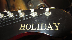 Vintage 1960's Harmony Holiday Model 1478 Silhouette w/ Original Case