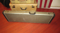 Vintage circa 1965 Fender Mustang Bass Case Grey with Orange Interior