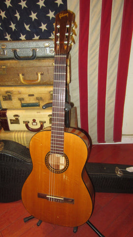 Vintage 1965 Gibson C-1-D Laredo Classical Guitar Natural w/ Original Hard Case