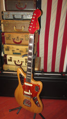 Vintage 1966 Fender Jaguar Natural / Candy Apple Red