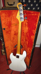 Vintage 1966 Fender Jazz Bass White, 9 lbs!