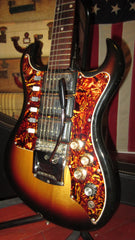 Vintage Original 1966 Custom Kraft Ambassador 3 Pickup Electric Sunburst