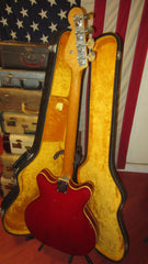 Vintage 1967 Fender Coronado II Bass Hollow Body Bass Guitar w/ Original Case