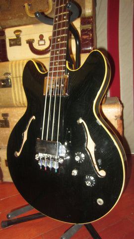 Vintage 1967 Gibson EB-2 Hollowbody Bass Guitar Original Black Finish