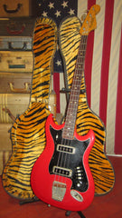 Vintage 1967 Hagstrom HIIB Bass Red