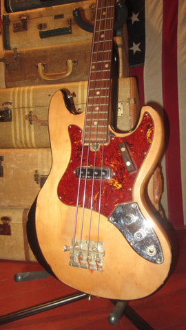 1967 Teisco / Kingston Single Pickup Solidbody Bass Natural
