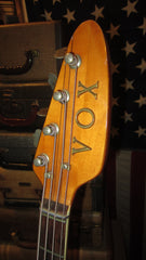 Vintage 1967 Vox Apollo Hollow Body Bass w/ Built in Treble Boost & Fuzz w/ Hard Case