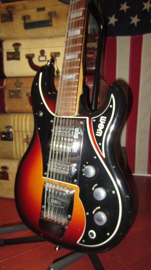 Vintage Original 1967 WEM Watkins Sapphire 12 String Electric Solidbody Guitar Sunburst