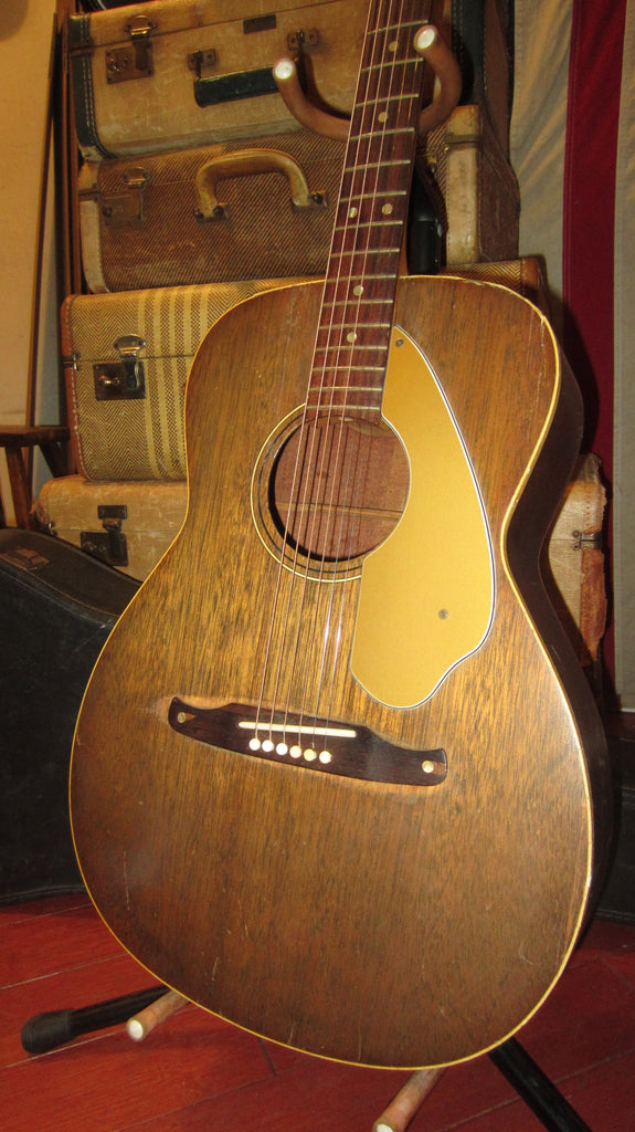 Circa 1969 Fender Newporter Small Bodied Acoustic Natural