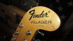 Vintage 1969 Fender Villager 12 String Acoustic Guitar Natural w/ Gig Bag