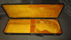 Vintage circa 1969 Gibson Hard Shell Case for Les Paul Black w/ Yellow Interrior