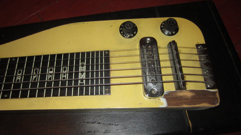 1969 Guyatone Lap Steel Guitar Yellow