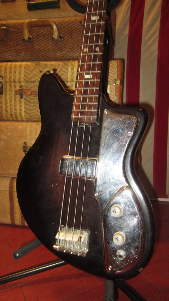 Vintage circa 1969 Regent Electric Solidbody Bass Brown Sunburst