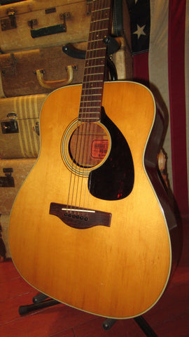 1969 Yamaha FG-180 Nippon Gakki Red Label Acoustic Natural