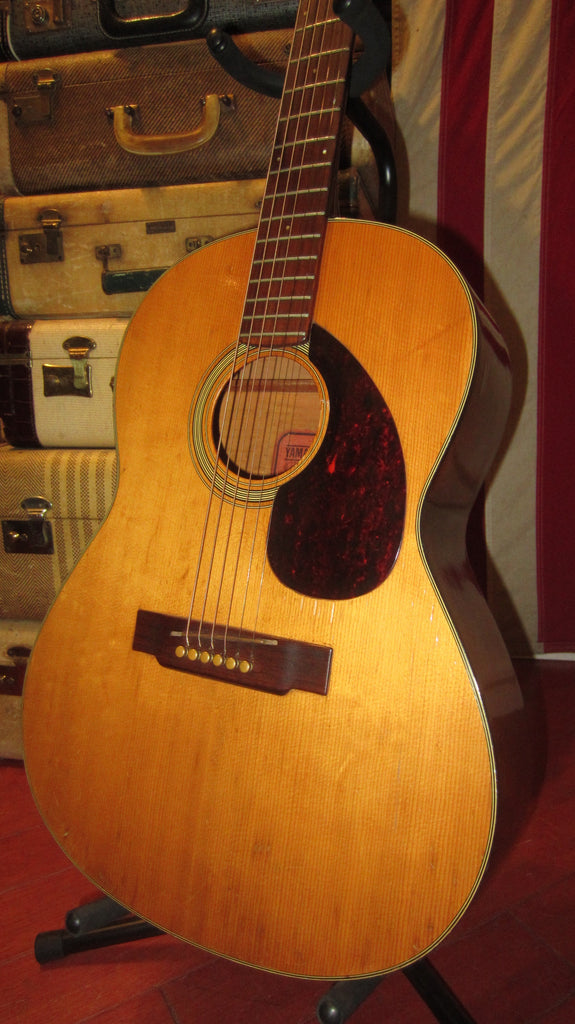 Vintage Original Circa 1969 Yamaha FG-75 Red Label Small Bodied Acoustic Natural W/ Soft Case