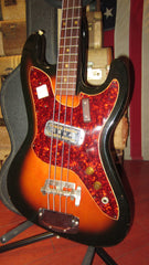 Vintage circa 1971 Harmony H-25 Electric Bass Sunburst w/ Original Case