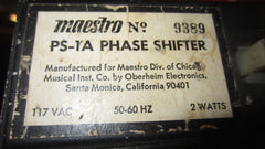 Vintage Circa 1971 Maestro PS-1A Phase Shifter Black