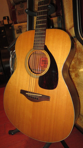 Vintage 1971 Yamaha FG-150 Red Label Small Bodied Acoustic Natural