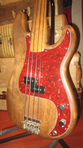 1972 Fender Precision Bass Fretless P-Bass Natural w/ Hard Case