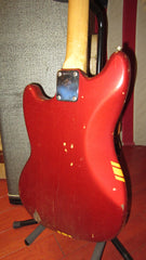 Vintage 1973 Fender Mustang Competition Red w/ Original Case