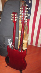 1974 Ibanez Model 2402 SG Style Double Neck 6 and 12 String Cherry Red