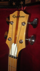 ~1975 Epiphone ET-285 Electric Solidbody Bass Natural with Original Hard Case