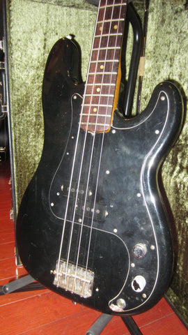 Vintage 1976 Fender Precision Bass P-Bass Black Light Weight w/ Hard Case