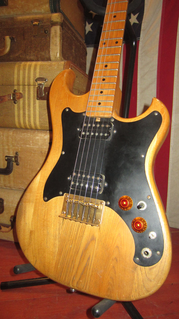 Vintage 1970's Electra Solid Body Electric Music Man Copy Natural w/ Gig Bag