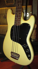 Vintage 1978 Fender Musicmaster Bass White w/ Original Case
