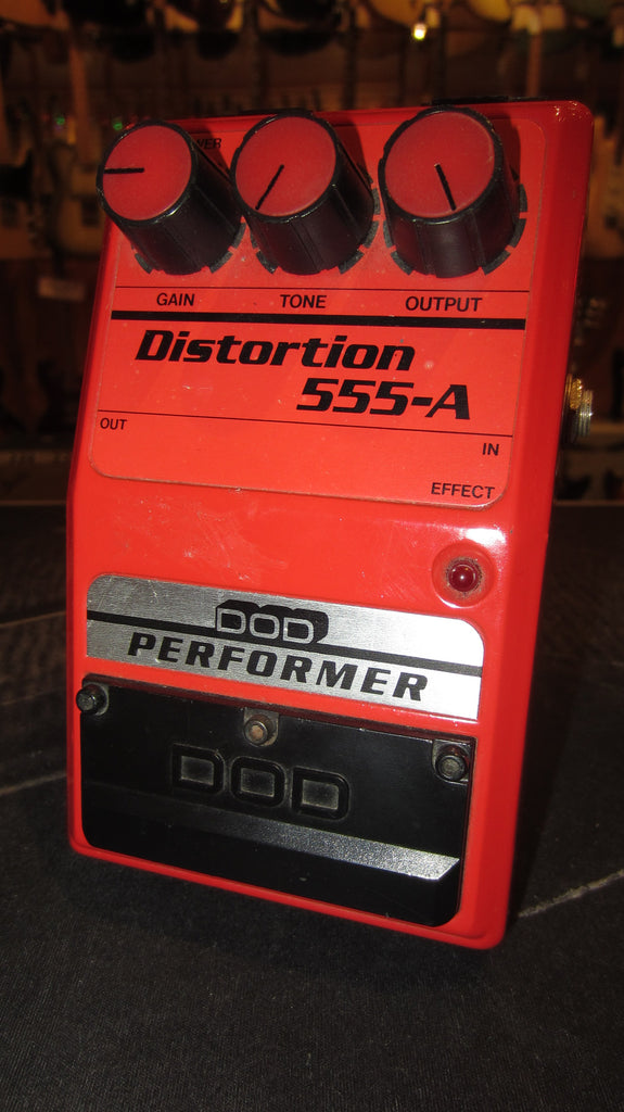 Vintage 1979 DOD 555-A Distortion Red