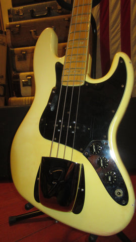 Vintage 1979 Fender Jazz Bass Olympic White w/ Hard Case