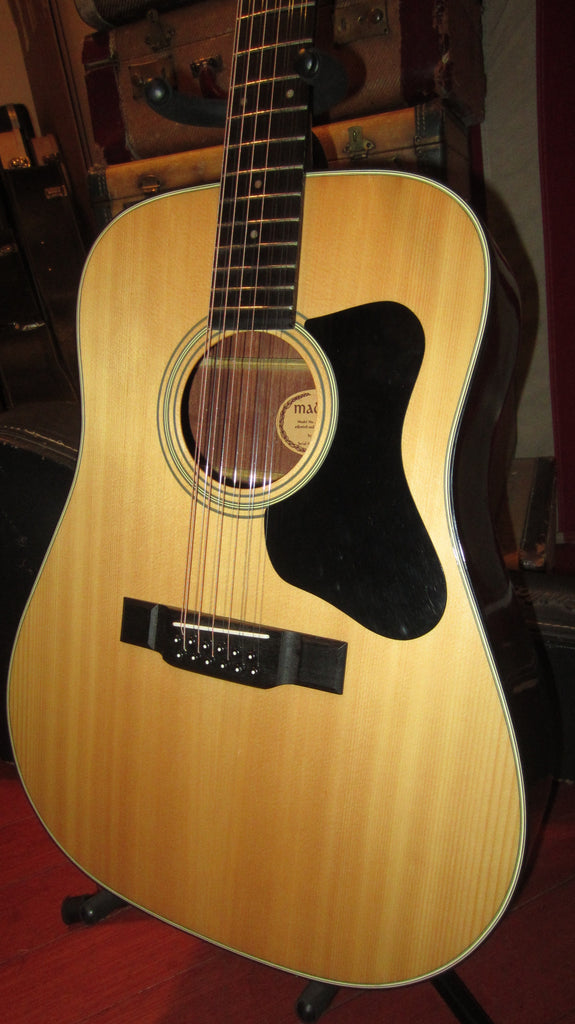 Vintage 1979 Guild Madeira A-12A 12 String Acoustic Dreadnought Natural