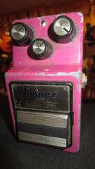 Vintage 1980's Ibanez AD-9 Analog Delay Pedal Pink Made in Japan