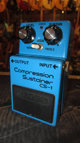 Pre Owned 1985 BOSS CS-1 Compression Sustainer Compressor Made in Japan Blue