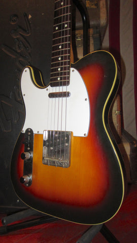 1985 Fender Telecaster Custom Lefty Left Handed Sunburst