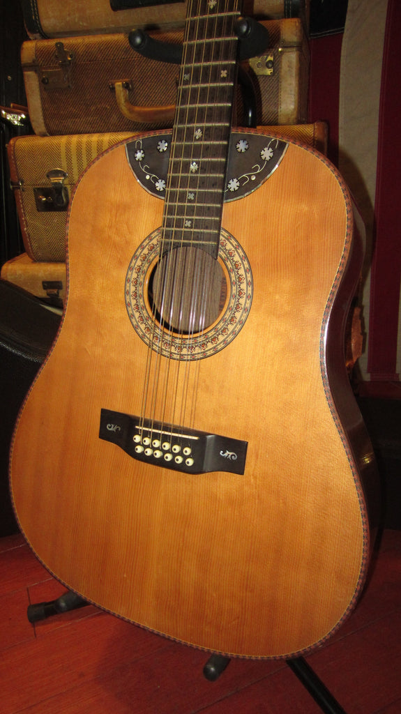 Vintage 1987 Langejans 12 String Dreadnaught Acoustic/Electric w/ Hard Case