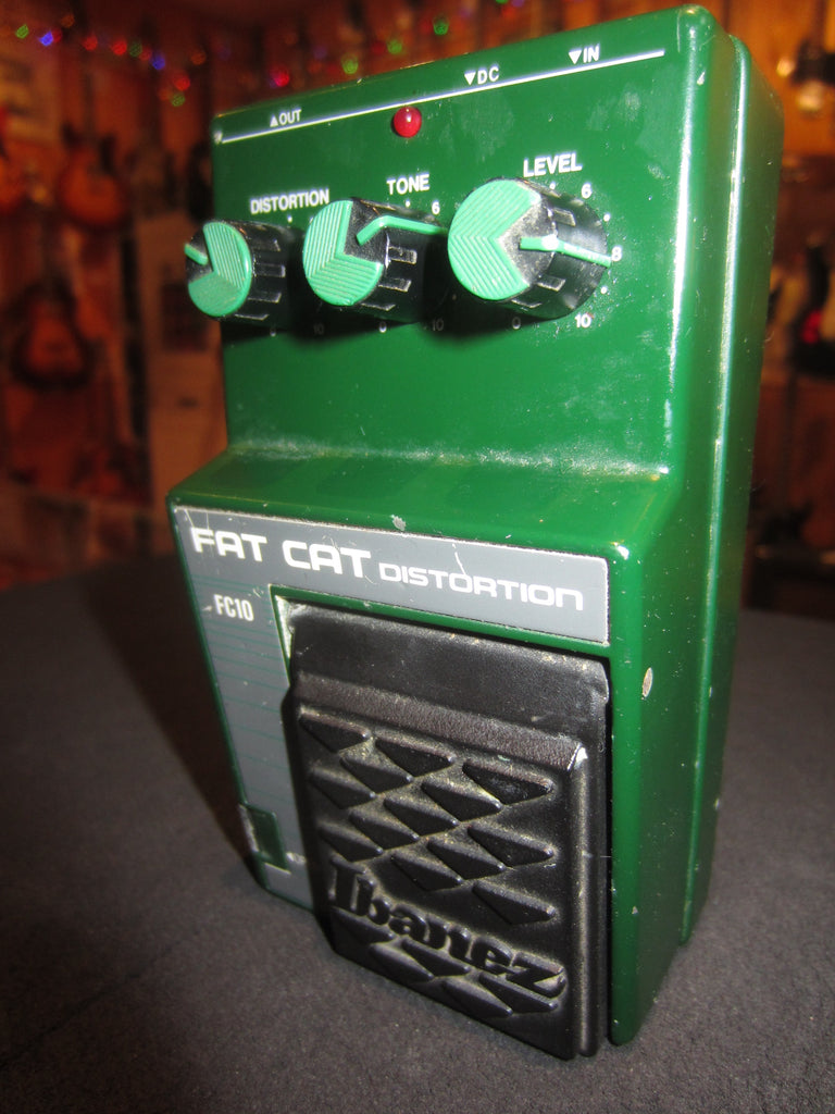 Vintage 1989 Ibanez FC10 Fat Cat Distortion Pedal Green