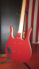 1990's Jerry Jones Neptune Long Horn Bass Red w/ Original Case