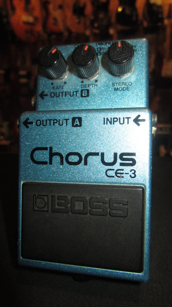 Vintage Circa 1992 Boss CE-3 Chorus Made in Japan Green Label
