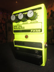 Pre-Owned 1993 DOD FX58 Metal Maniac Distortion Pedal Yellow