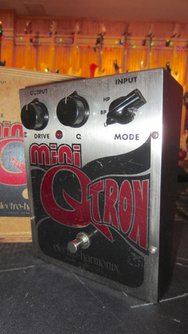 Vintage 1990's Electro-Harmonix Mini Q-Tron Envelope Filter Made in NYC w/ Wood Box