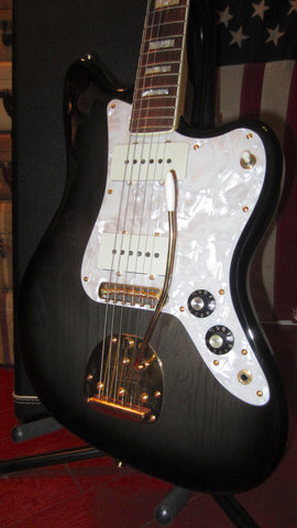 1996 Fender The Ventures Limited Edition Jazzmaster Transparent Dark Sunburst Clean