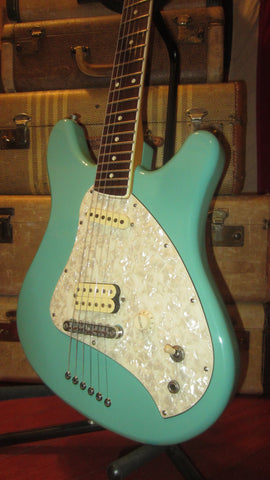 1997 Fender Squier Venus Surf Green