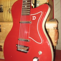 Pre Owned 2000 Danelectro Baritone Guitar Red
