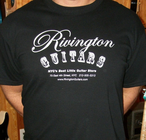 Rivington Guitars T-Shirt Black (Logo Shirt)