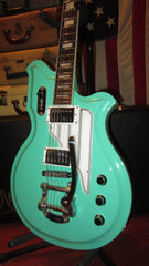 Preowned 2015 Eastwood  Airline Map Guitar Seafoam Green