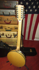 Pre-owned 2015 Gold Tone GT-1200 12 String Electric Acoustic Banjo Natural