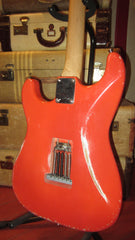 Circa 2015 Peter Florance Parts Stratocaster Copy Fiesta Red w/ Gig Bag